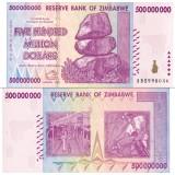 Zimbabwe 2008 500 Million Dollars P82 UNC