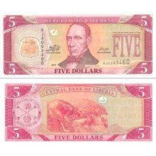 Liberia 2011 5 Dollars P26 UNC