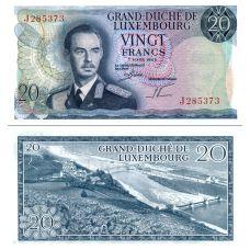 Luxemburg 1966 20 Francs P54a UNC