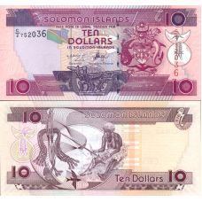 Salomonsaaret 2006 10 Dollars P27a UNC