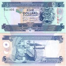Salomonsaaret 2006 5 Dollars P26-U9 UNC
