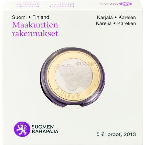 Suomi 2013 5 € Maakuntien rakennukset Karjala - Imatrankoski PROOF