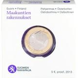 Suomi 2013 5 € Maakuntien rakennukset Pohjanmaa - Pohjalainen talo PROOF