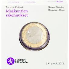 Suomi 2013 5 € Maakuntien rakennukset Savo - Olavinlinna PROOF
