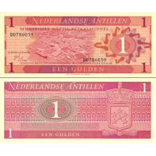 Alankomaiden Antillit 1970 1 Gulden P20a UNC