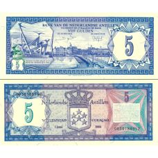 Alankomaiden Antillit 1984 5 Gulden P15b UNC