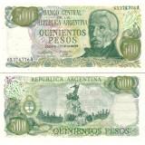 Argentiina 1977-82 500 Pesos P303b UNC