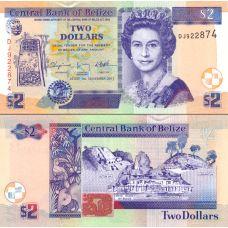Belize 2011 2 Dollars P66d UNC