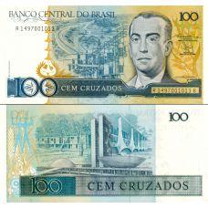Brasilia 1987 100 Cruzados P211b UNC