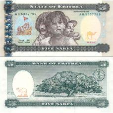 Eritrea 1997 5 Nakfa P2 UNC