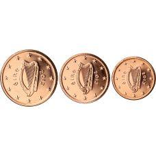 Irlanti 2013 1 c, 2 c, 5 c Irtokolikot UNC