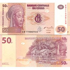 Kongo 2007 50 Francs P97 UNC