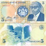 Lesotho 1989 5 Maloti P10 UNC