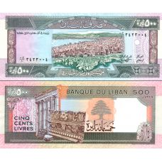 Libanon 1988 500 Livres P68 UNC