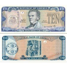 Liberia 2011 10 Dollars P27 UNC