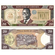 Liberia 2011 20 Dollars P28e-2 UNC