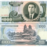 Pohjois-Korea 2006 1 000 Won P45b UNC