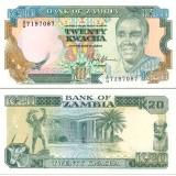 Sambia 1989-91 20 Kwacha P32b UNC