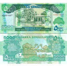 Somalimaa 2011 5000 Shillings P21 UNC