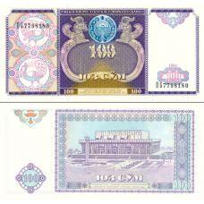 Uzbekistan 1994 100 Som P79 UNC
