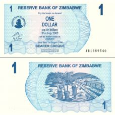 Zimbabwe 2006 1 Dollar P37 UNC
