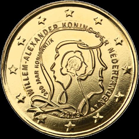 Alankomaat 2013 2 € Kuningaskunta 200 vuotta - Willem-Alexander I KULLATTU
