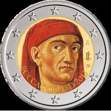 Italia 2013 2 € Giovanni Boccaccio VÄRITETTY