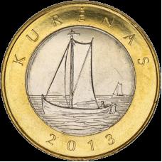 Liettua 2013 2 Litiä Kurenas (vene) UNC