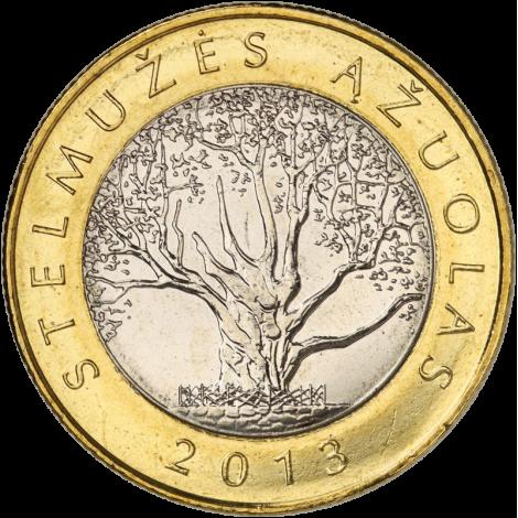 Liettua 2013 2 Litiä Stelmuzes Azuolas (puu) UNC