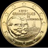 Luxemburg 2012 2 € Guillaume IV KULLATTU