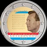 Luxemburg 2013 2 € Suuriruhtinaskunnan kansallislaulu VÄRITETTY