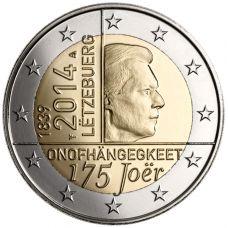 Luxemburg 2014 2 € Itsenäisyys 175 vuotta UNC