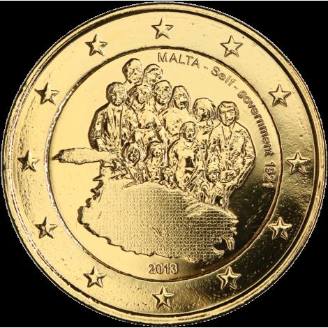 Malta 2013 2 € Itsehallinto 1921 KULLATTU