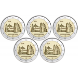 Saksa 2014 2 € Pyhän Mikaelin kirkko ADFGJ UNC