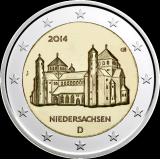Saksa 2014 2 € Pyhän Mikaelin kirkko J UNC