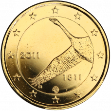 Suomi 2011 2 € Suomen Pankki 200v KULLATTU