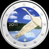 Suomi 2011 2 € Suomen Pankki 200v #2 VÄRITETTY