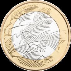 Suomi 2014 5 € Pohjolan luonto Erämaa UNC