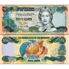 Bahama 2001 50 Cents P68 UNC