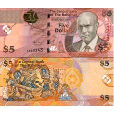 Bahama 2007 5 Dollars P72 UNC