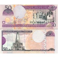 Dominikaaninen tasavalta 2002 50 Pesos Oro P170b UNC