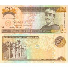 Dominikaaninen tasavalta 2004 20 Pesos Oro P169d UNC