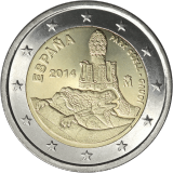 Espanja 2014 2 € Antonio Gaudi UNC