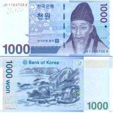 Etelä-Korea 2007 1000 Won P54 UNC