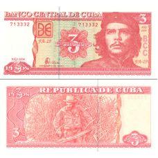Kuuba 2004 3 Pesos P127 UNC