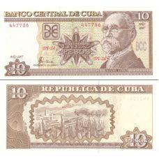 Kuuba 2007 10 Pesos P117i UNC
