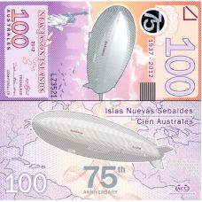 New Jason Islands 2012 100 Australes P912b UNC