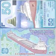 New Jason Islands 2012 50 Australes P911 UNC