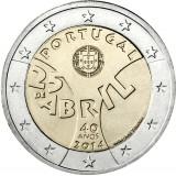 Portugali 2014 2 € Neilikkavallankumous UNC