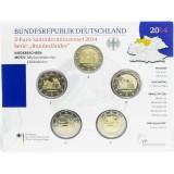 Saksa 2014 2 € Pyhän Mikaelin kirkko ADFGJ BU